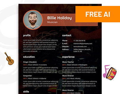 Free Musician Resume Template Download