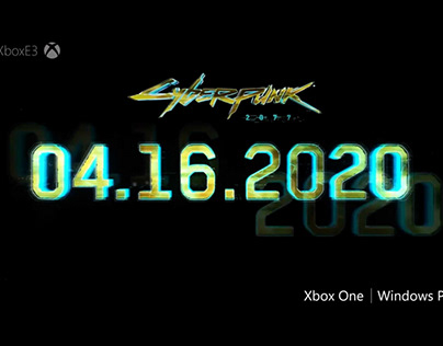 animation of the release date of CYBERPUNK game