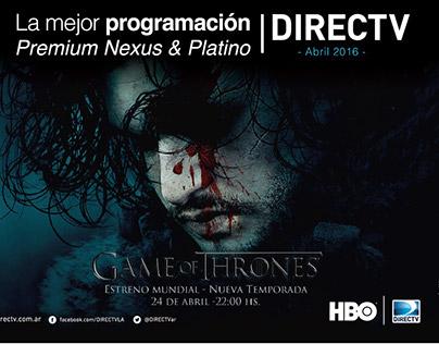Comunicación al cliente DIRECTV Argentina