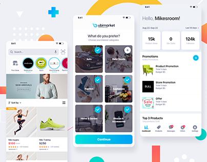 Ubimarket mobile app design
