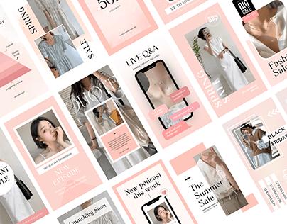 Pastel Instagram Stories Templates