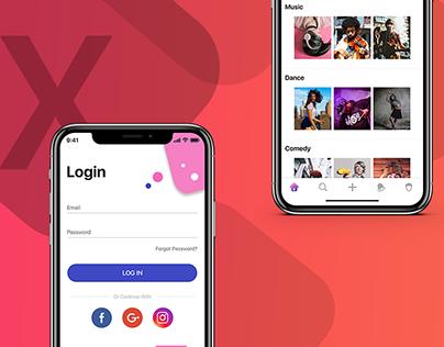 New iPhone X Design - Video Sharing App