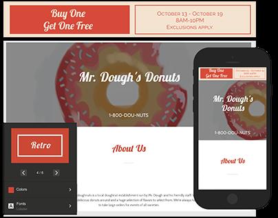 GoDaddy Website Announcement Mockups