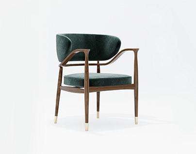 Model i wizualizacje studyjne krzesła Mason
