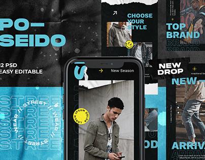 Poseido Streetwear Instagram Template