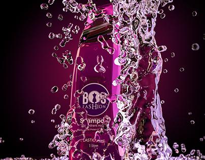 Bos Shampoo Product visualization Render
