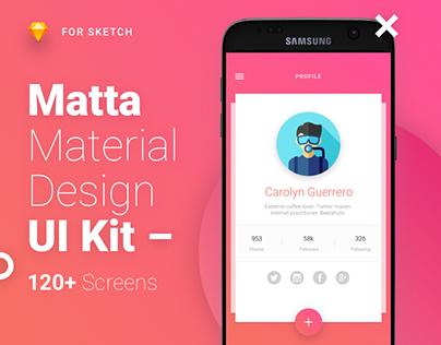 Matta - Material Design Mobile UI Kit