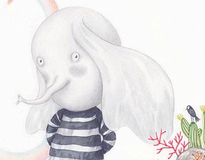 Mo, the ellephant/ Book illustration