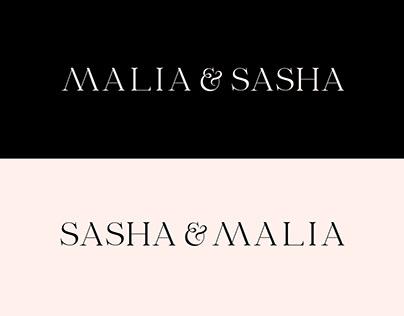 Sasha & Malia Logotypes