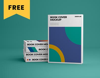 Vertical Book Hardcover Mockup Set - FREE