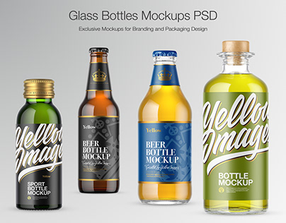 Glass Bottles Mockups