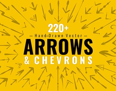 220+ Hand-drawn Vector Arrows & Chevrons