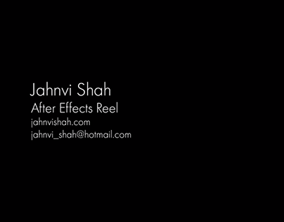 After Effects Reel 2018