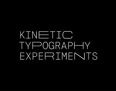 Kinetic Typography Experiments