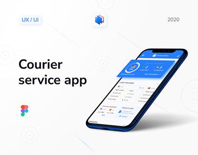 Courier App UX UI design