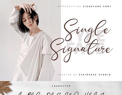 Single Signature Modern Typeface
