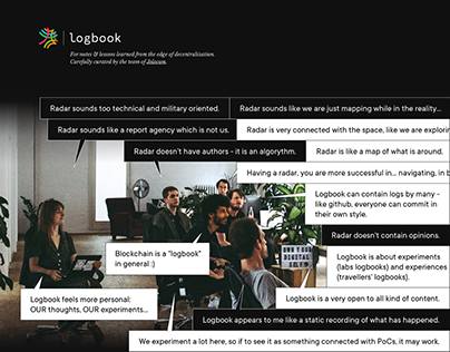 Design and art direction of the Jolocom Logbook