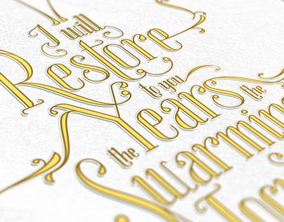 Joel 2:25 Typography