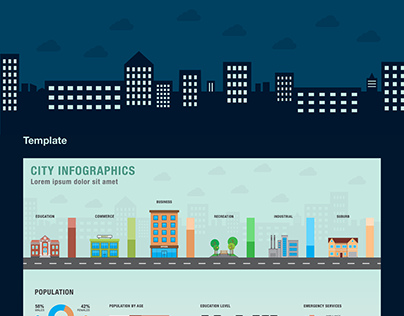 City Themed Infographics and Elements
