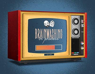 BrainWashing in Process Illustration