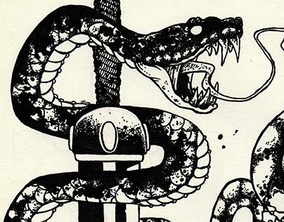 Planches de tatouages. Serpents & armes 1, 2 & 3.