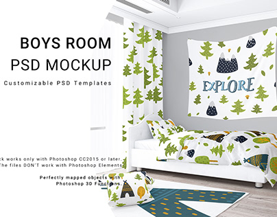 Boy's Room - Bed Linen Curtains Tapestry Rug