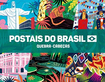 Coleção Postais do Brasil Quebra-cabeças