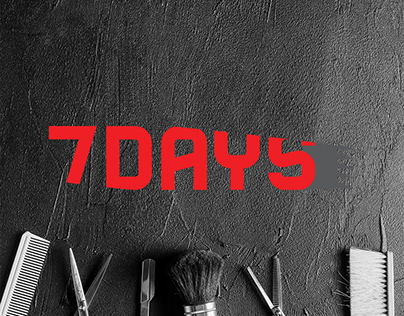 7DAYS- barbershop logo