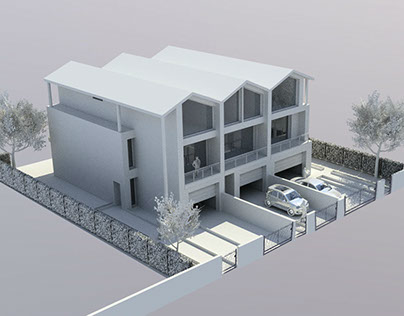Concept plan of 3 townhouses
