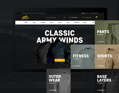Ecommerce Hiking & Outdoor Clothing Shop