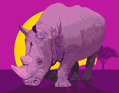 Rhino Created in Illustrator on the iPad