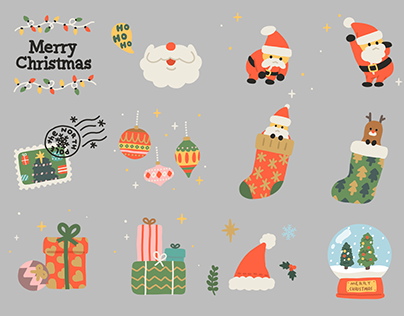 CHRISTMAS MOVING STICKERS