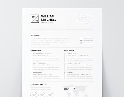 Free Minimalistic & Clean Resume | PS & AI