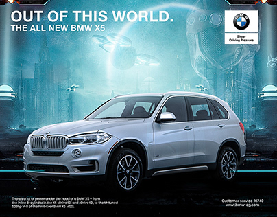 THE ALL-NEW BMW X5 SERIES. OUT OF THIS WORLD