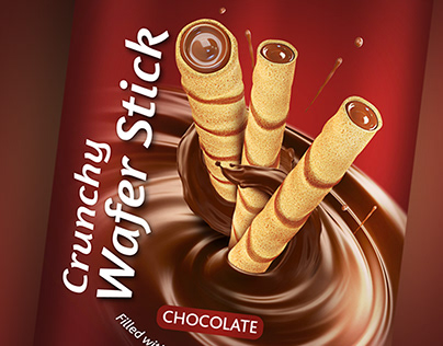 Crunchy Wafer Stick Package Design