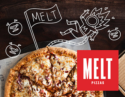 MELT Pizzas / Illustrations