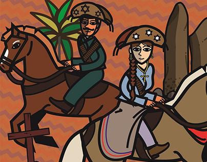 Cavalhada & Figuras da Cavalgada