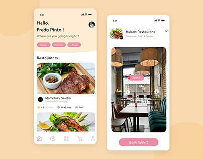 Restaurant Booking App UI