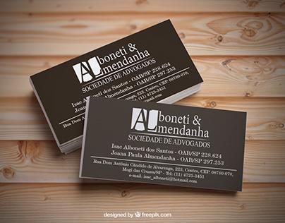 Cartão de Visita Alboneti & Almedanha
