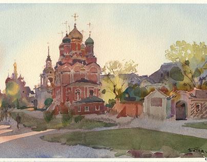 2021 Moscow plein air watercolor
