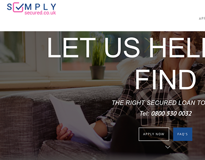 Best Place To Get A Loan >> Simply Secured On Behance