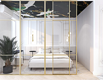 Interiors in white and gold