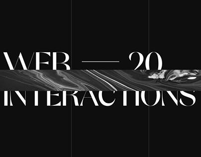 Interaction concepts - visual exploration - WEB 2020