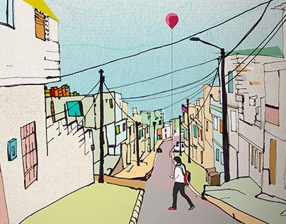 """""""Un día en las periferias"""" Cover Design"""