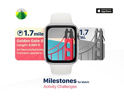 Milestones for Watch - Activity Challenges
