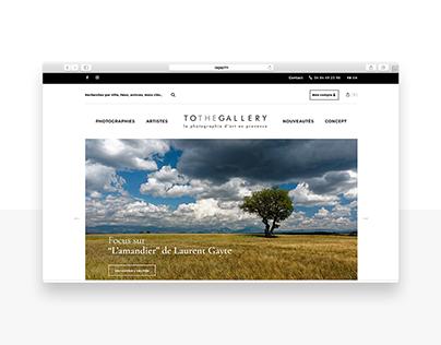 Tothegallery — webdesign