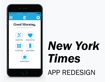 New York Times | App Redesign | Fall 2016