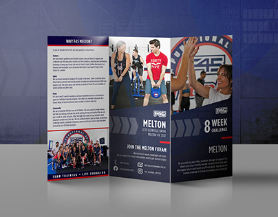 F45 Training Tri-Fold Brochure