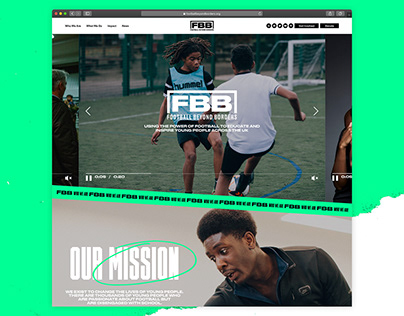 Football Beyond Borders website design by HeyBigMan!