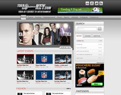 Entertainment  and news portal web design